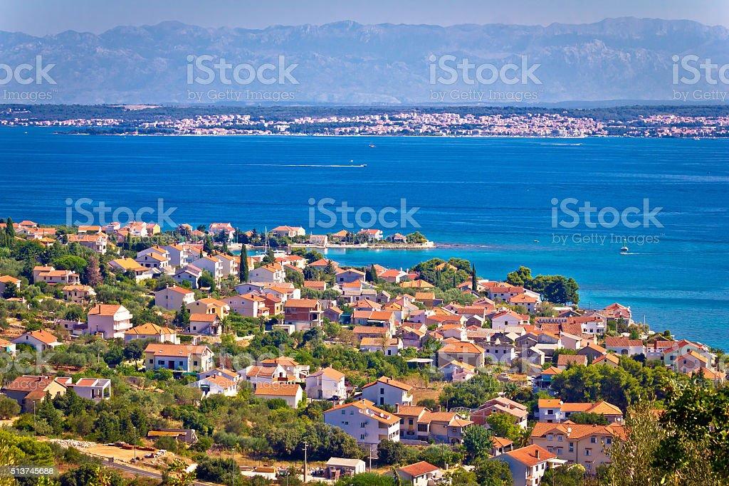 Island of Ugljan coast, Zadar and Velebit stock photo