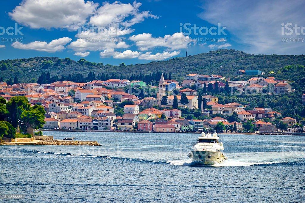 Island of Ugljan yachting destination stock photo