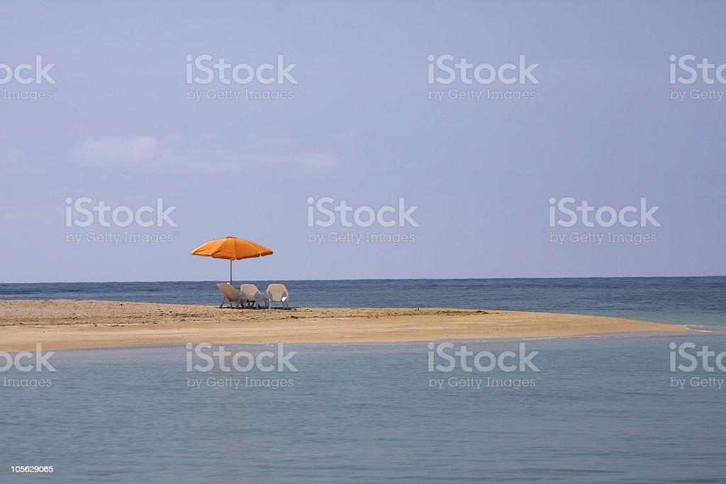 Island off Chichiriviche stock photo
