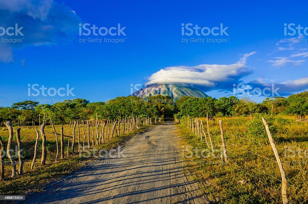 Island Ometepe with vulcano in Nicaragua stock photo
