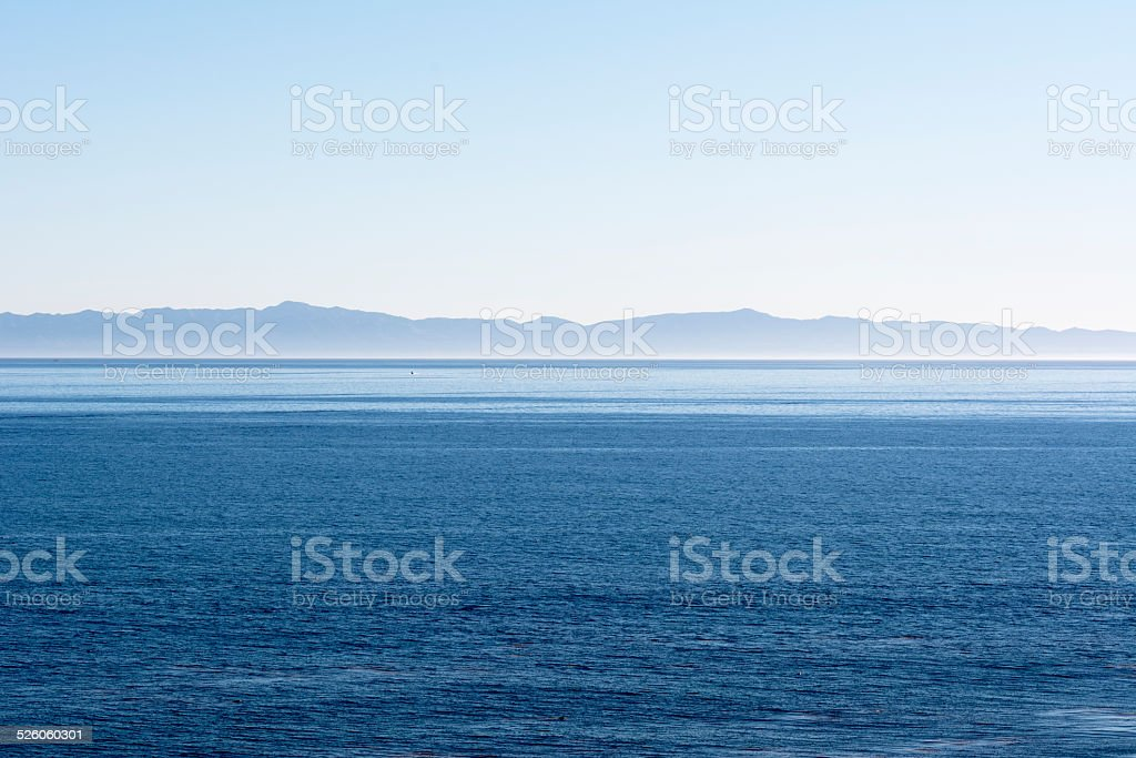 Island over ocean stock photo