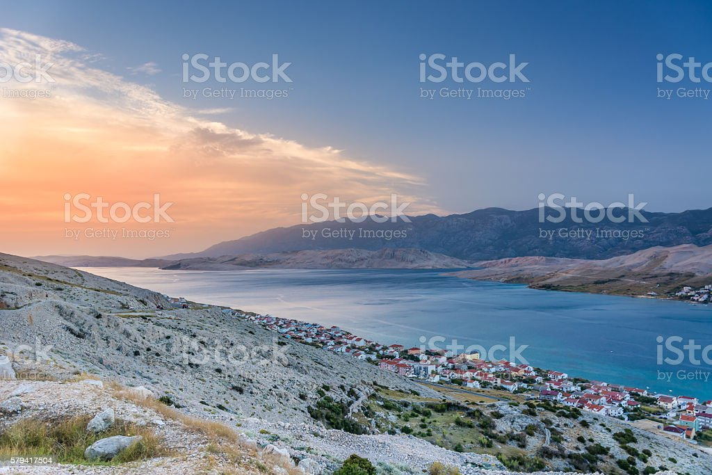 Island Pag Croatia. stock photo