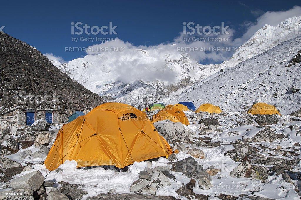 Island Peak (Imja Tse) base camp, Nepal royalty-free stock photo