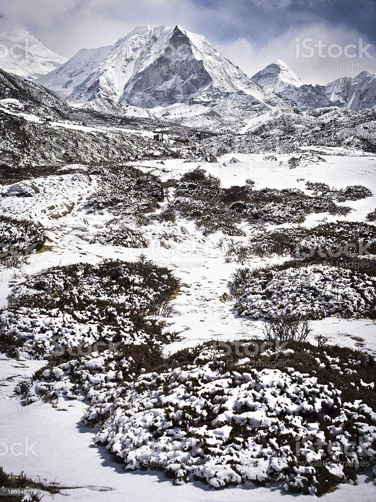 Island Peak in Nepal royalty-free stock photo