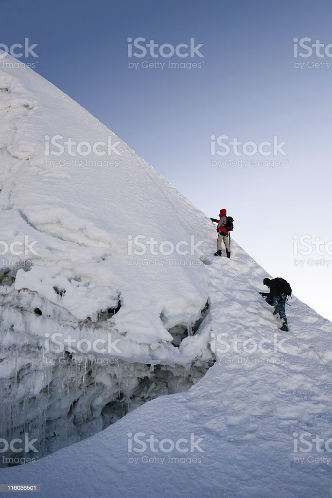 Island Peak Summit Ridge - Nepal stock photo