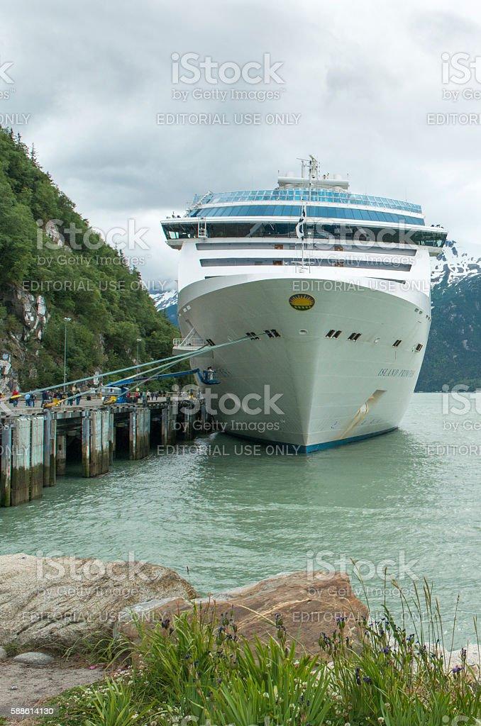 Island Princess Cruise Ship at Skagway stock photo