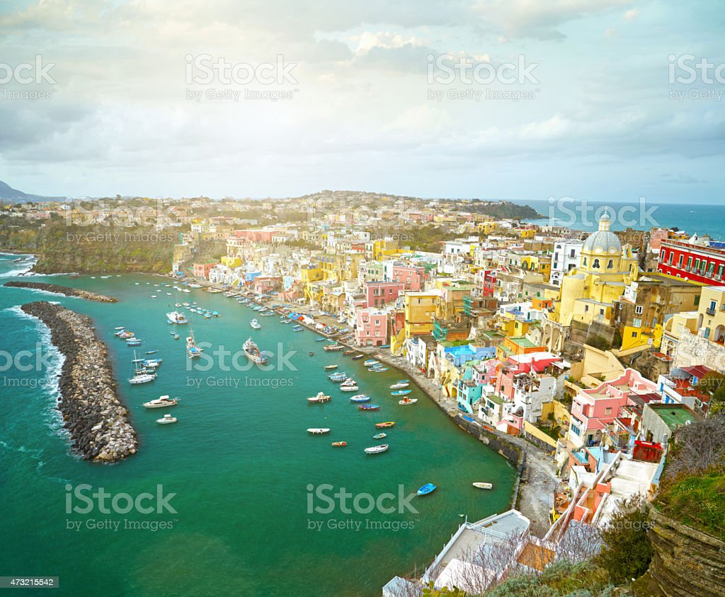 Island Procida near Naples, Italy stock photo
