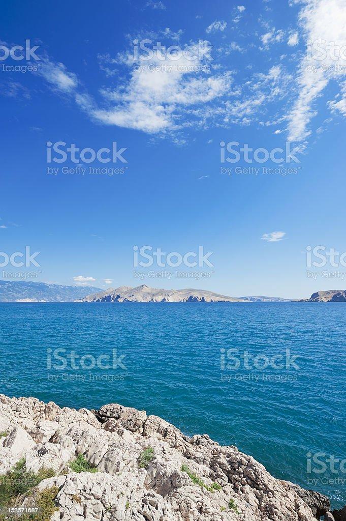 Island Prvic in Croatia stock photo
