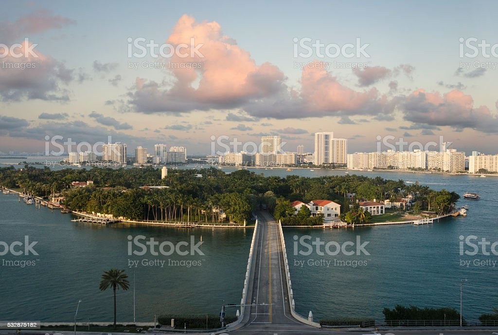 Island Road stock photo