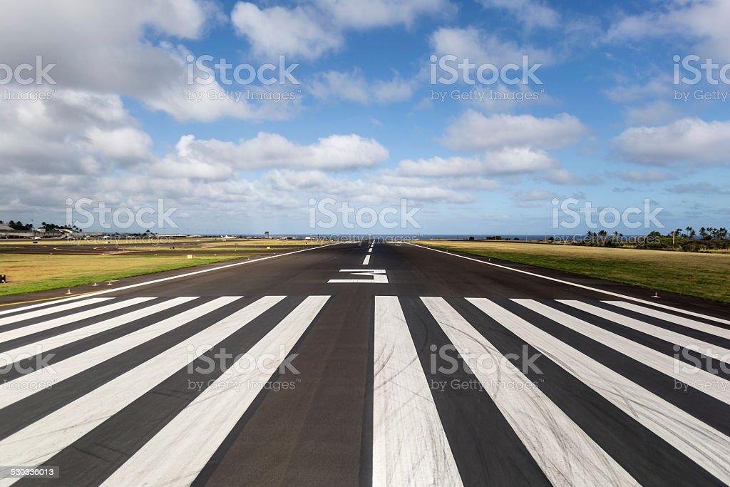 Island Runway stock photo