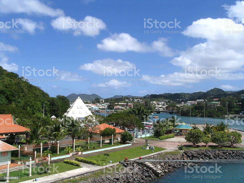 Island St. Lucia royalty-free stock photo
