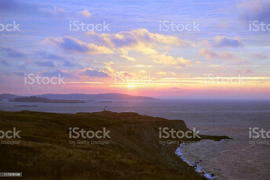 Island Sunrise stock photo