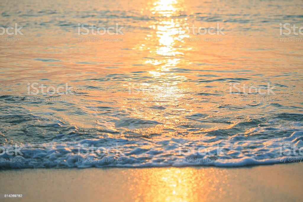 Island sunset stock photo