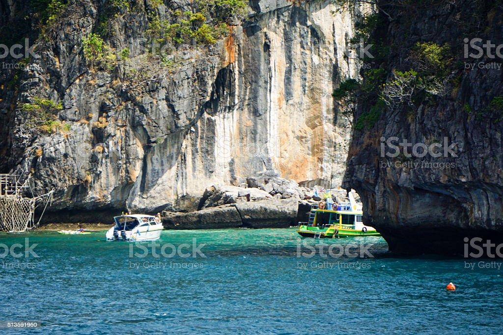 Island Tour to Phi Phi Island, Phuket, Thailand stock photo