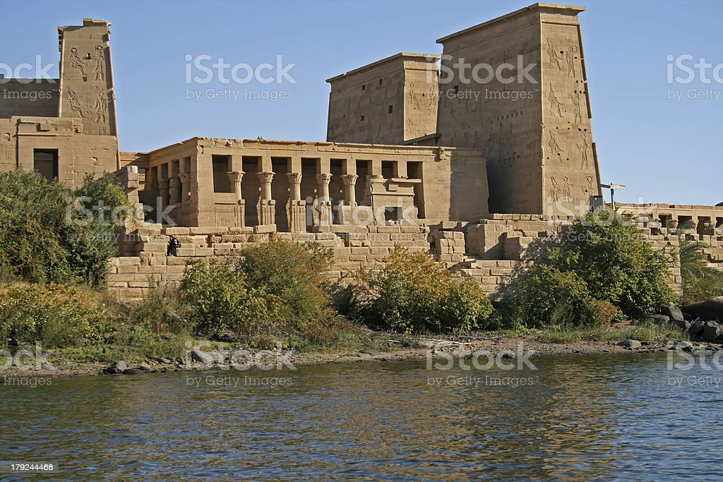Island view of Philae temple - Aswan Egypt royalty-free stock photo