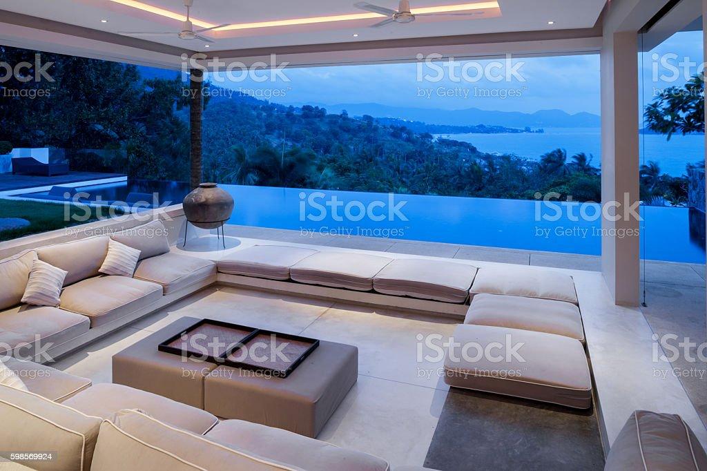 Island Villa Home stock photo