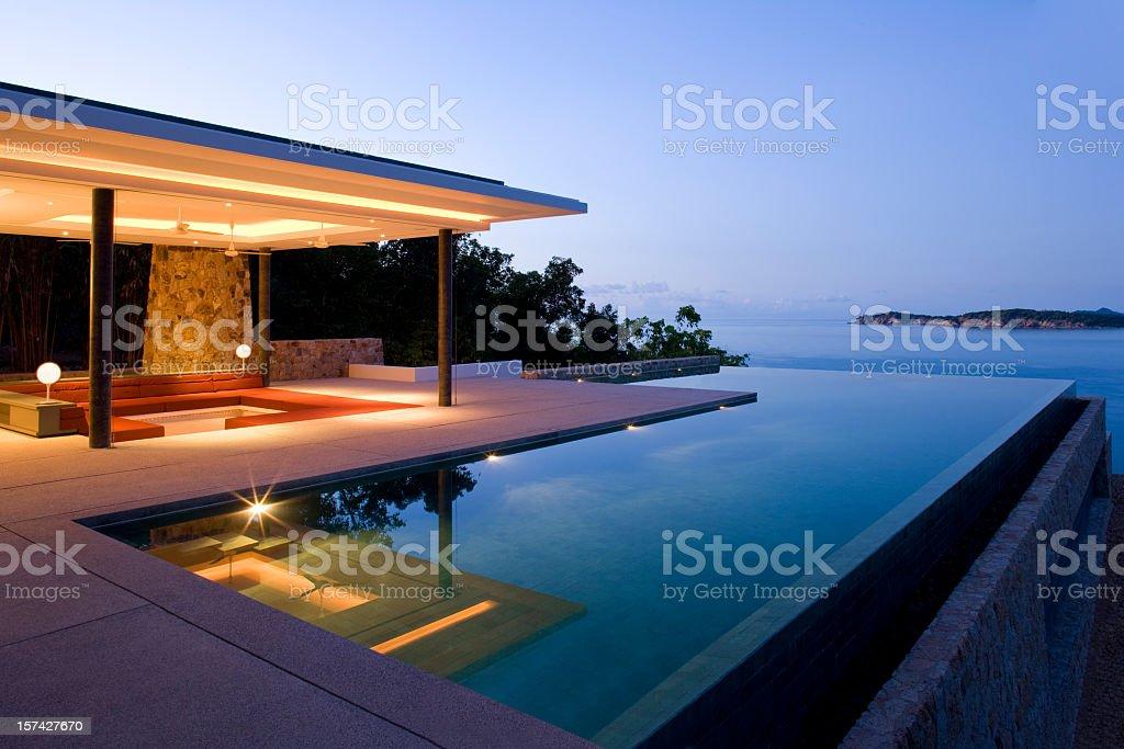 Island Villa stock photo
