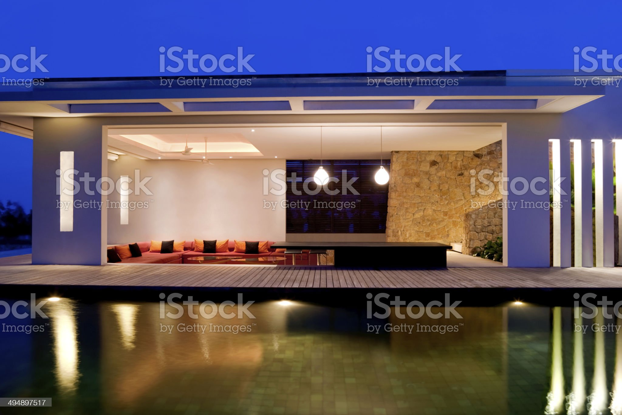Island Villa royalty-free stock photo