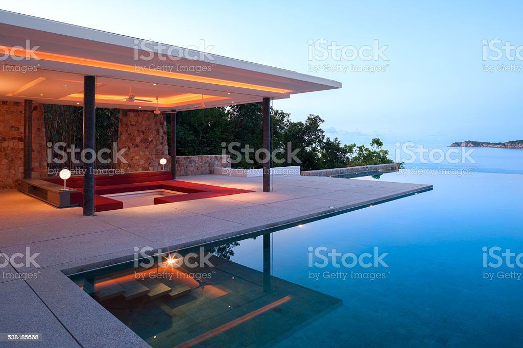 Island Villa stock photo