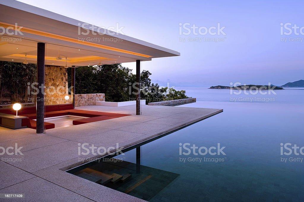 Island Villa Sunrise royalty-free stock photo