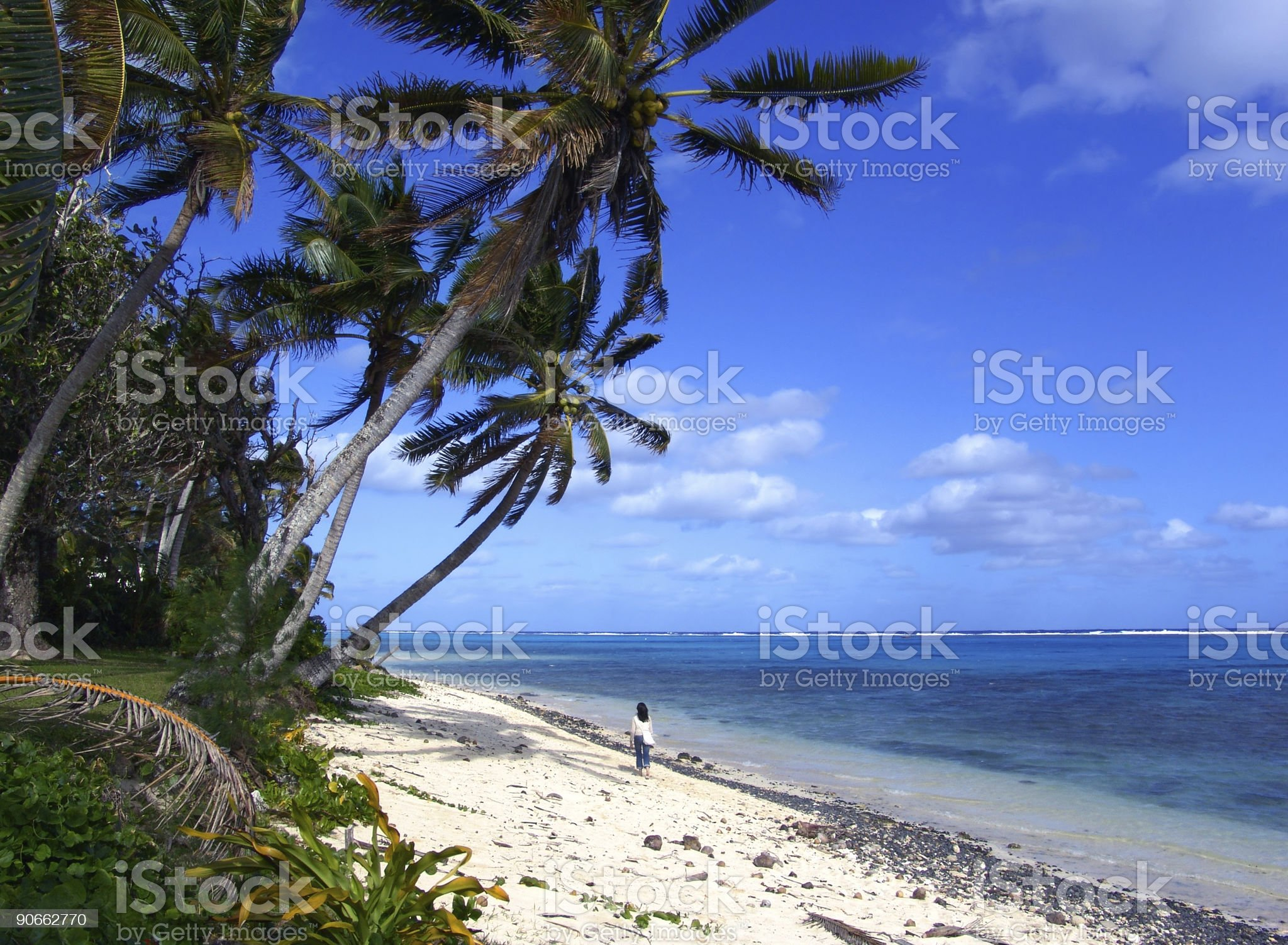 Island Walk royalty-free stock photo