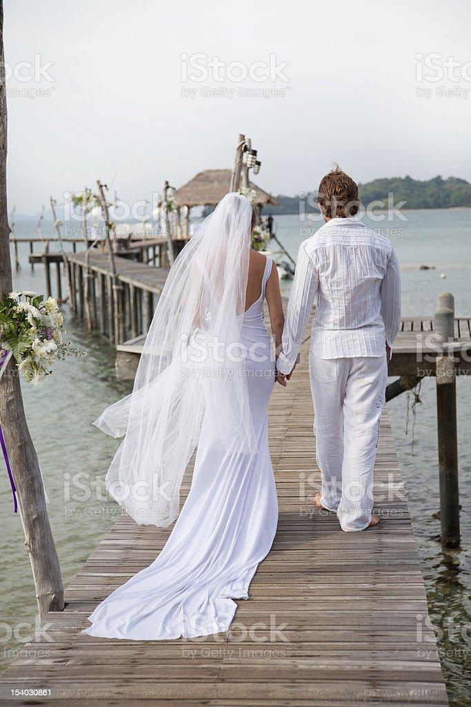 island wedding royalty-free stock photo