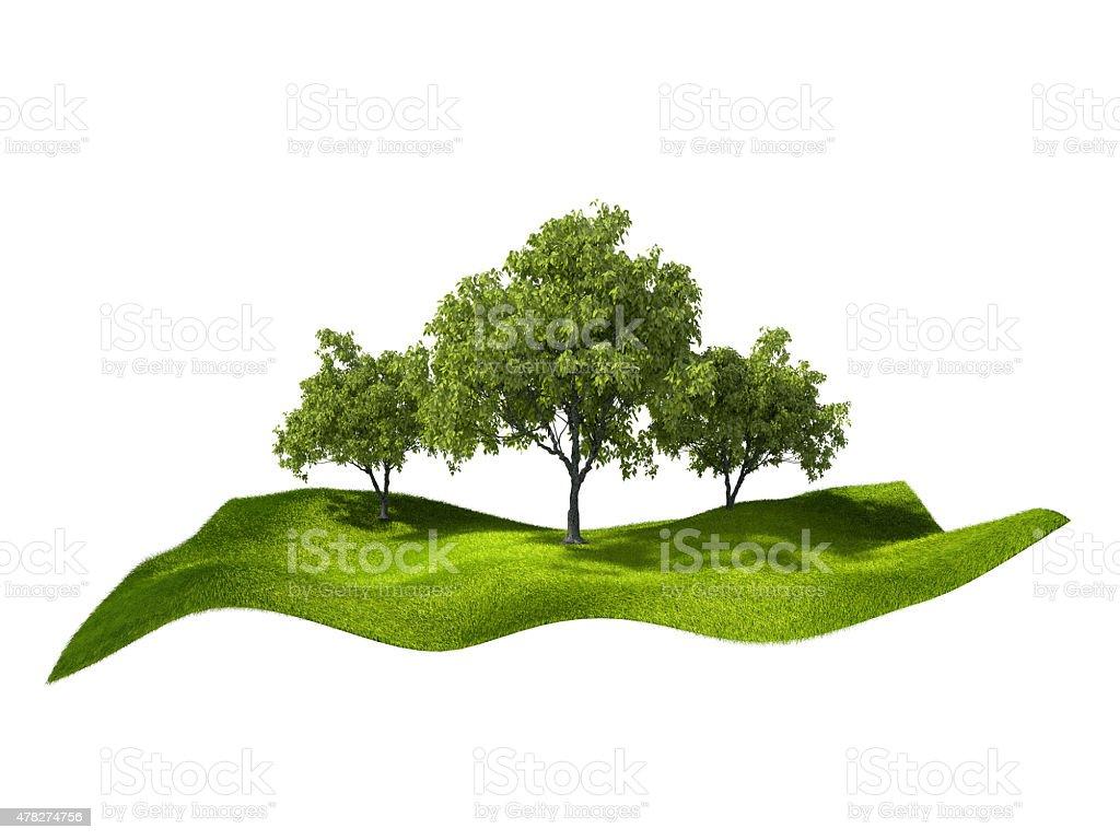 Île avec des arbres photo libre de droits