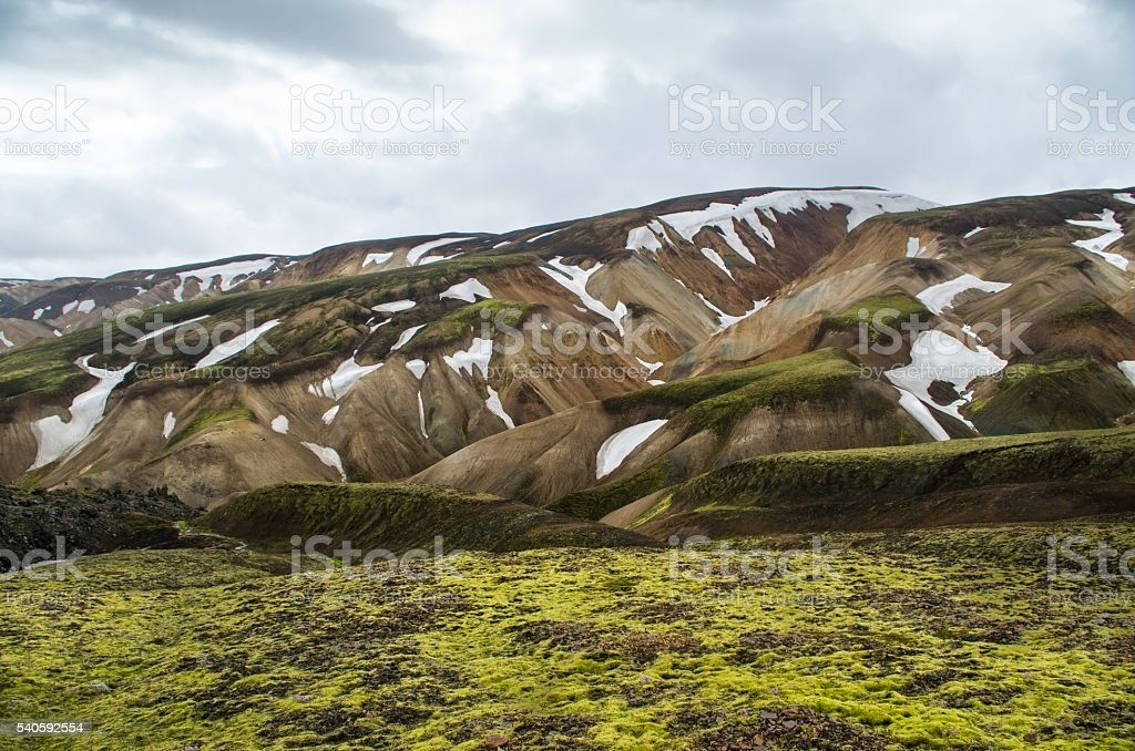 islandic moutain stock photo