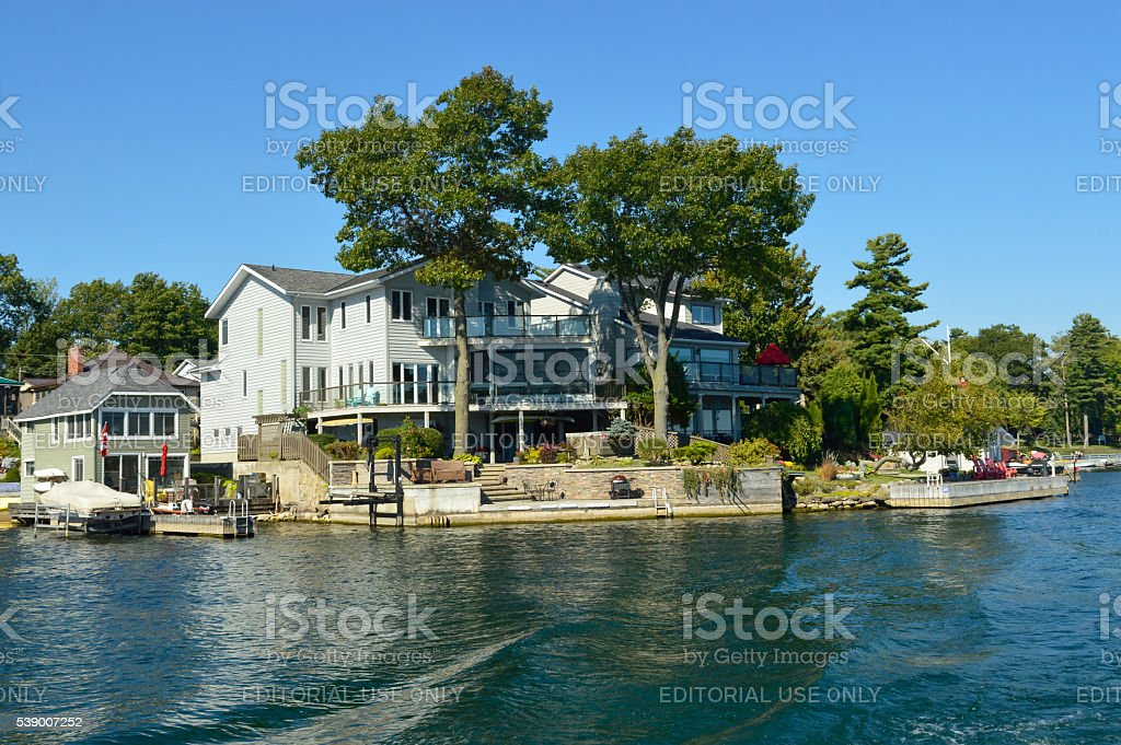 Islands and Kingston in Ontario, Canada stock photo