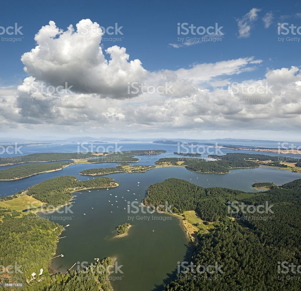 Islands by Vancouver Island stock photo