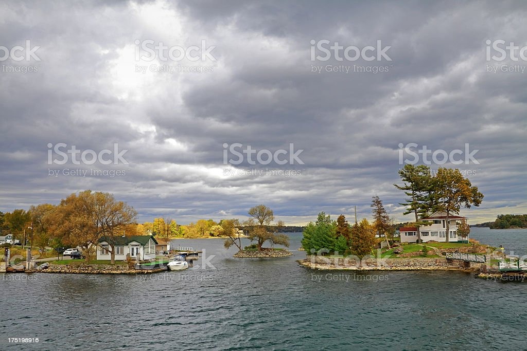 1000 Islands Cottages stock photo