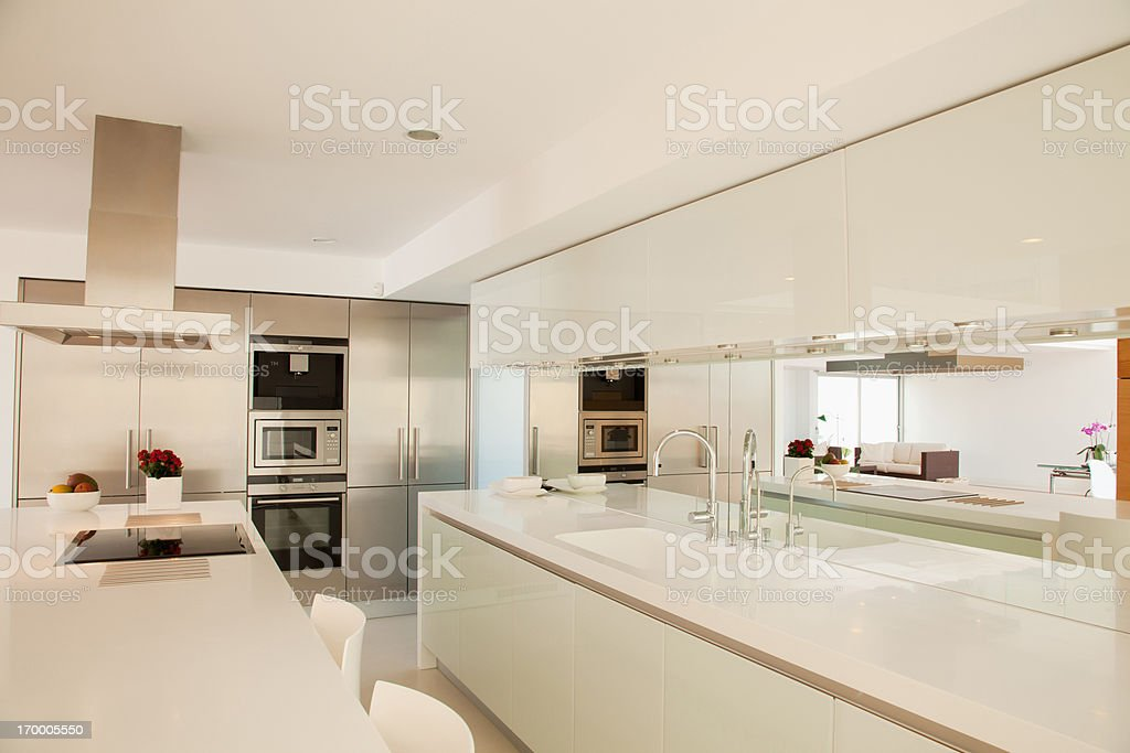 Islands in modern kitchen royalty-free stock photo