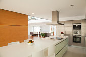 Islands in modern kitchen