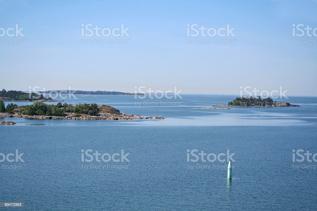 Islands in Stockholm outer archipelago stock photo
