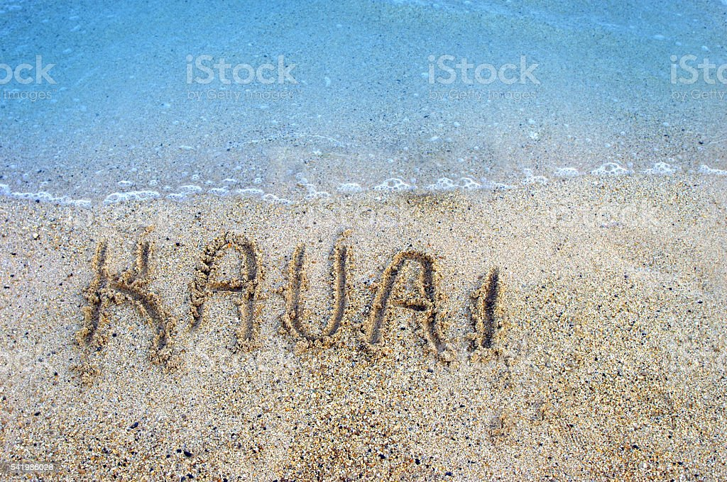 Islands in the Sand Kauai stock photo