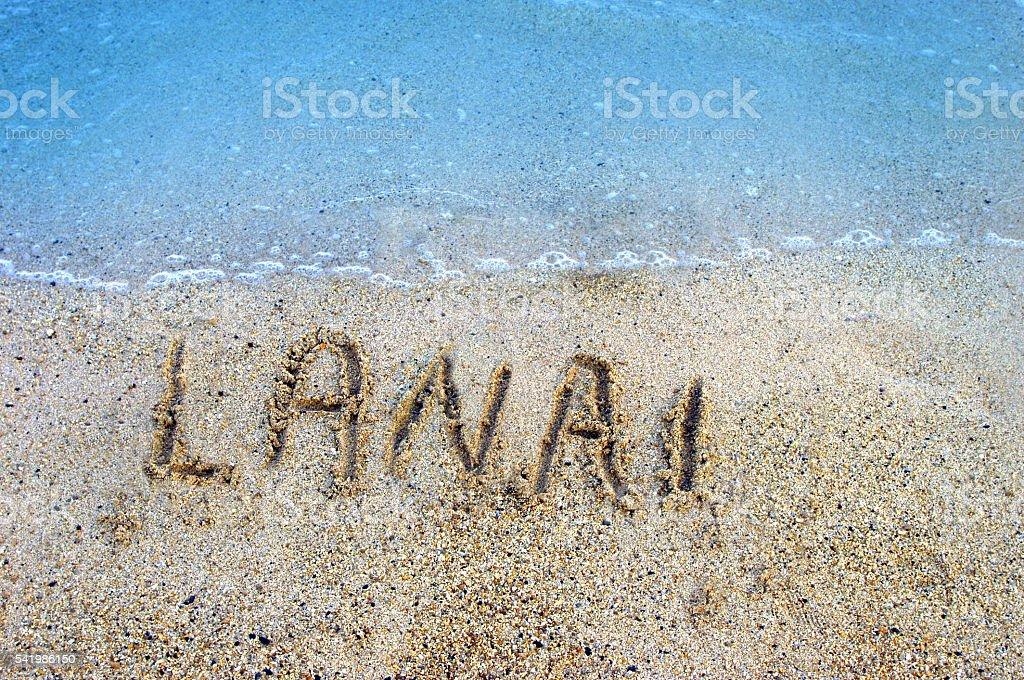 Islands in the Sand Lanai stock photo