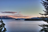Islands of Lake Pend Oreille Sunset