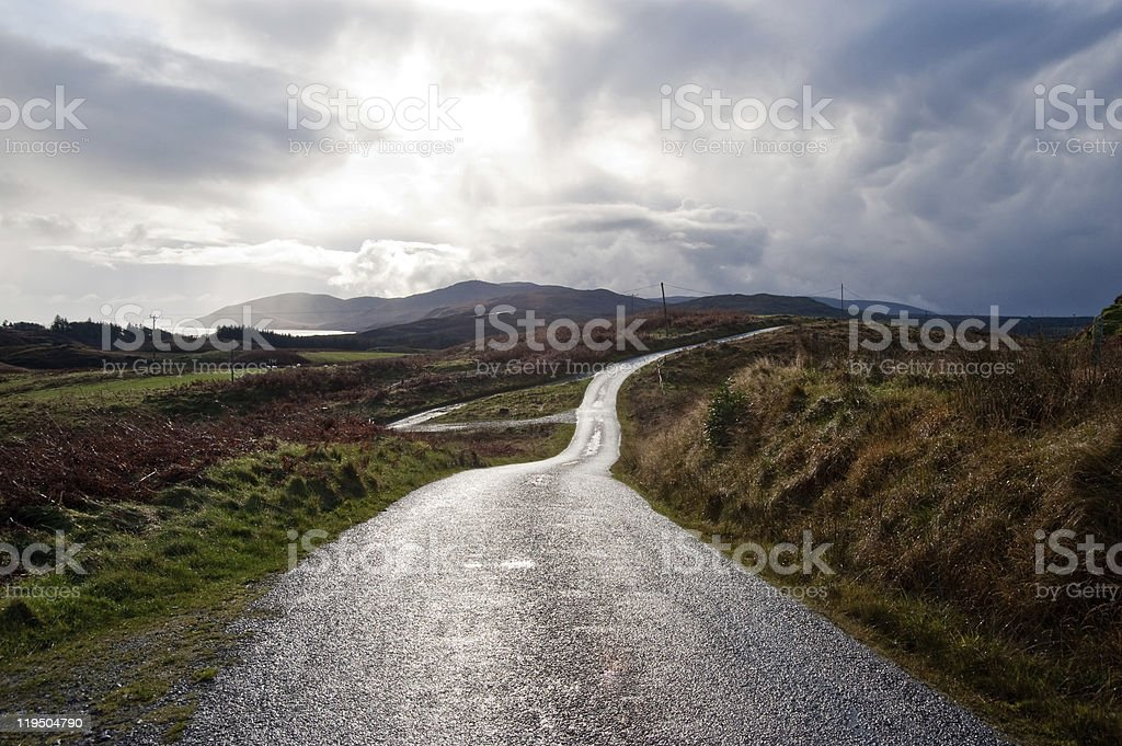 Islay road stock photo