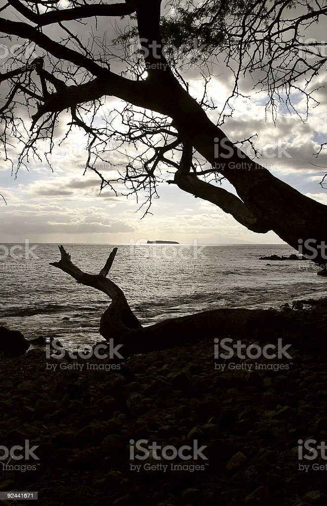 Isle at the end of day stock photo