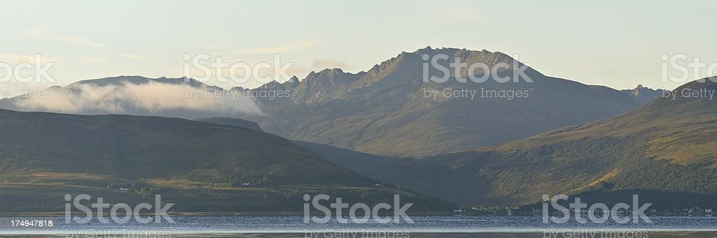Isle of Arran shimmers royalty-free stock photo