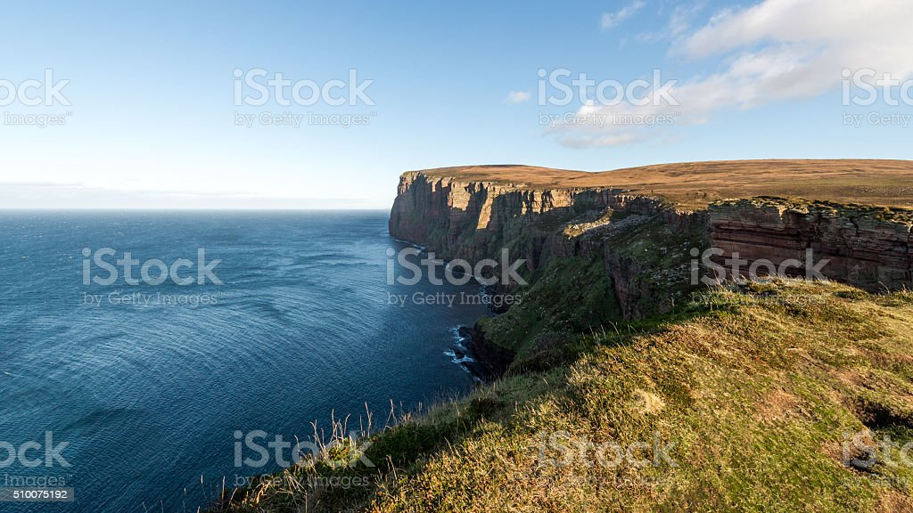 Isle of Hoy cliffs, Orkney, Scotland stock photo