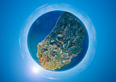 Isle Of Man 3D Little Planet 360-Degree Sphere Panorama