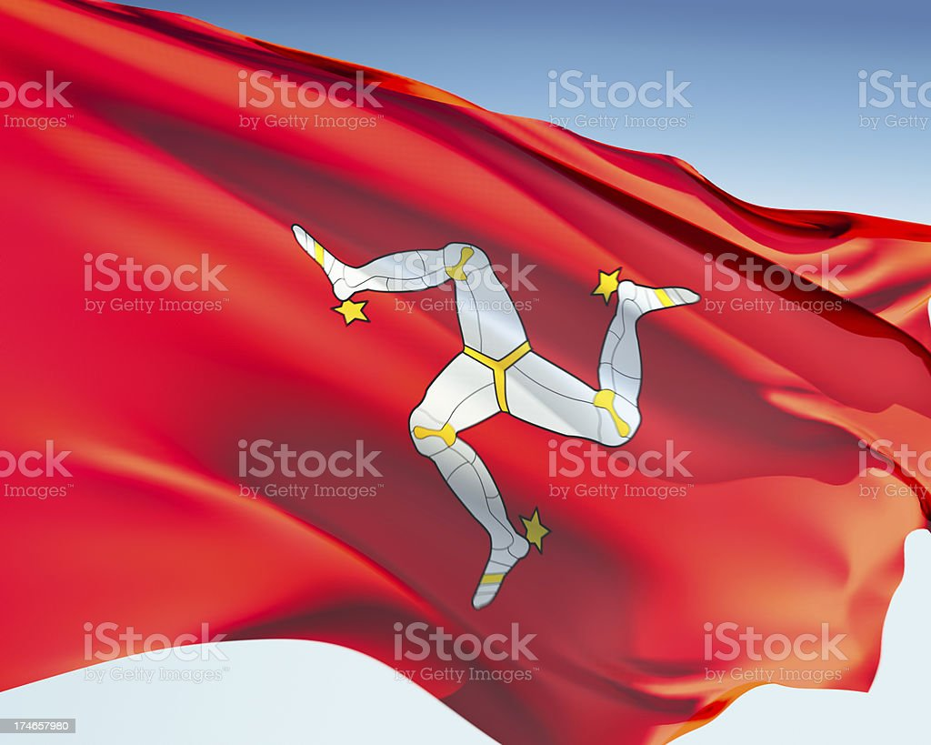 Isle of Man Flag stock photo