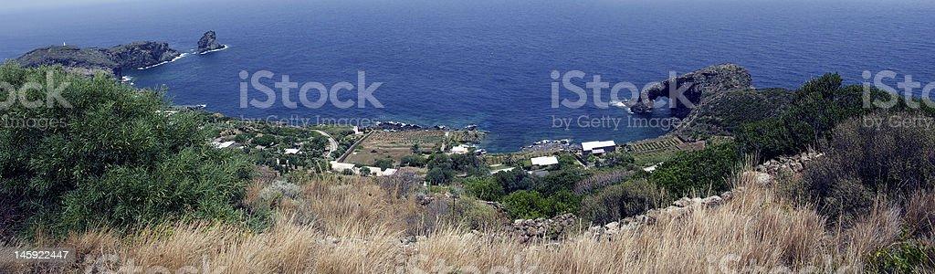 isle of pantelleria (arco dell'elefante) stock photo