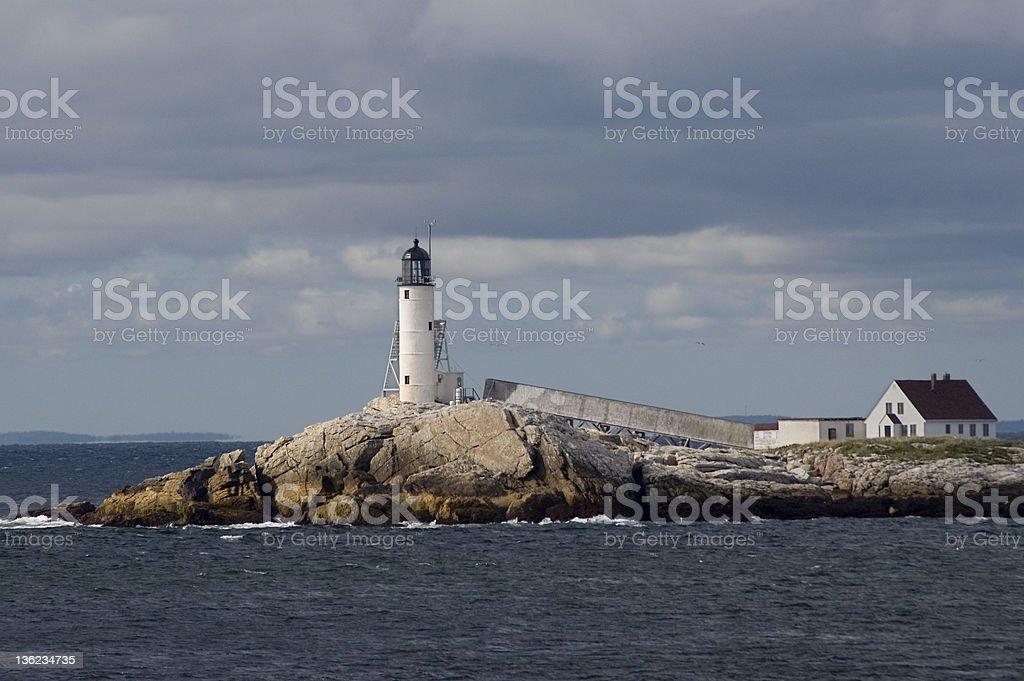 Isle of Shoals Lighthouse stock photo