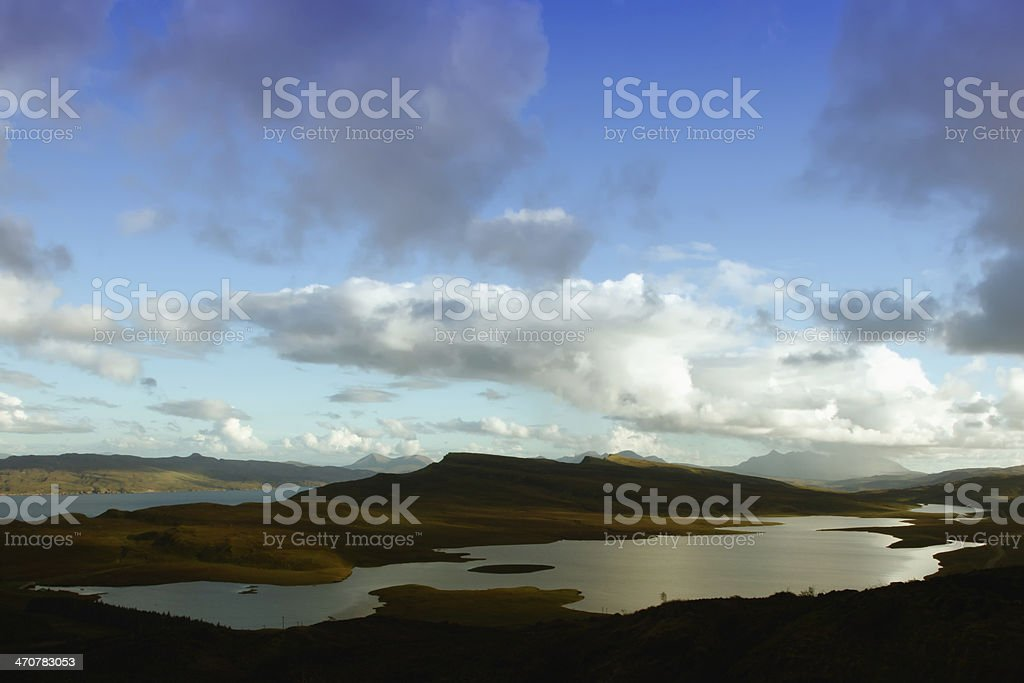 isle of sky in the highlands of scotland royalty-free stock photo
