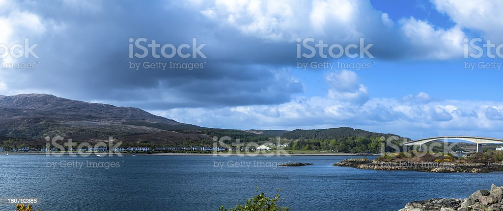 Isle of Skye and the Skye Bridge Panorama royalty-free stock photo