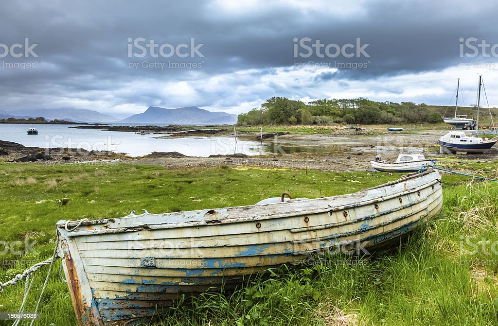 Isle of Skye - Old Boat in Need of Paint royalty-free stock photo