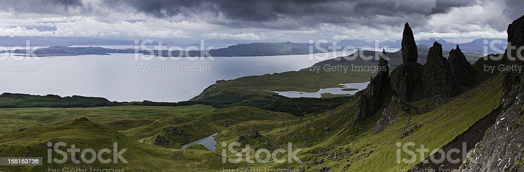 Isle of Skye Old Man Storr Highlands Hebrides Scotland royalty-free stock photo