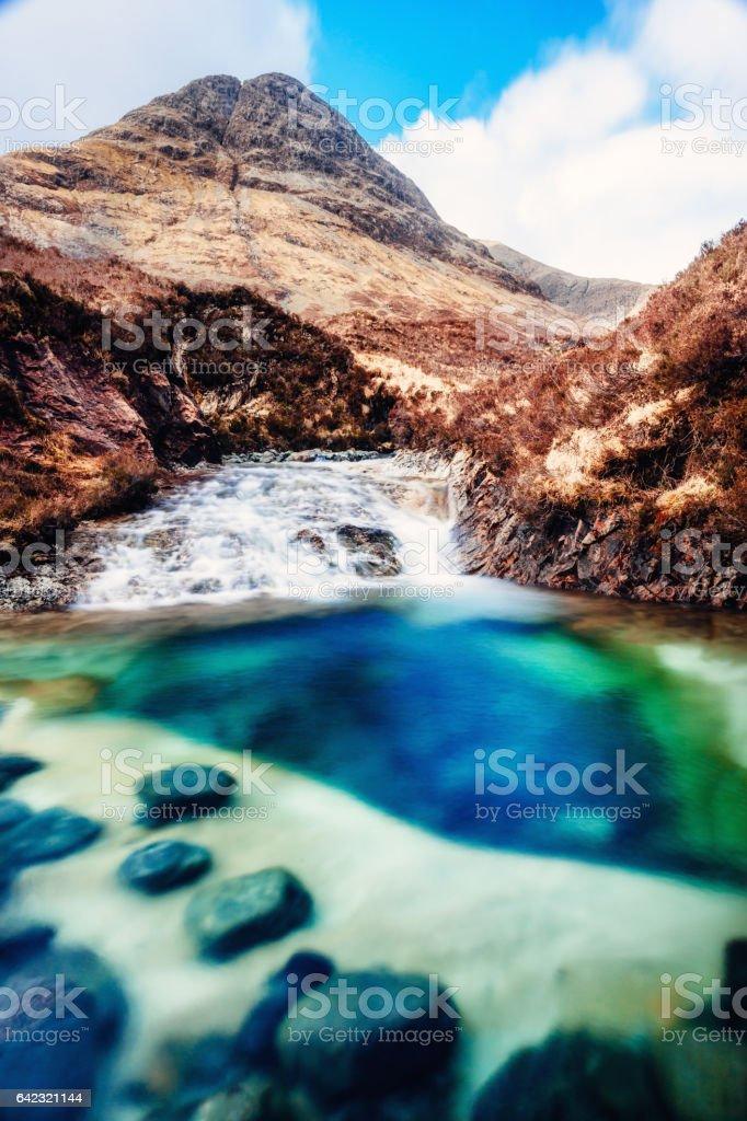 Isle of Skye rock pool, Scotland stock photo
